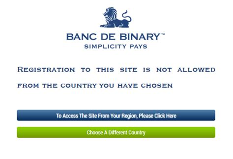 Eu Banc De Binary by Broker Banc De Binary Eu X Binary Options