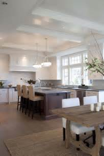 Open Kitchen With Island Open Kitchen Design With White Shaker Cabinets Cherry Kitchen Island Concrete Countertops