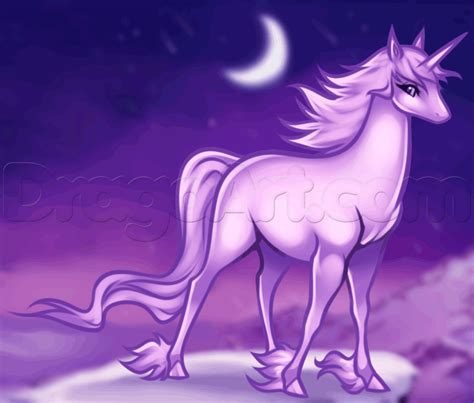 Anime Unicorn by How To Draw An Anime Unicorn Step By Step Unicorns