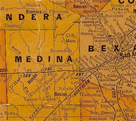 medina county texas map medina aka riomedina texas