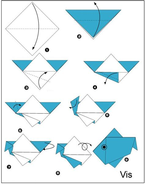 hoe vouw ik een bootje 25 beste idee 235 n over origami vis op pinterest origami