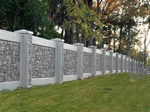 25 best ideas about concrete fence on pinterest
