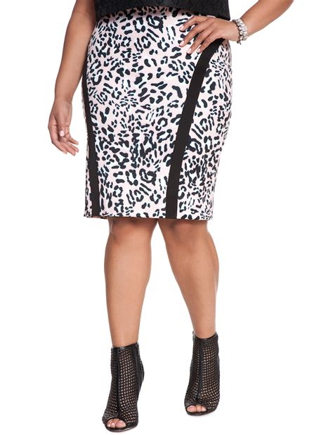 animal print pencil skirt s plus size skirts eloquii