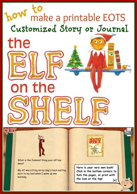 printable magic elf story how to write print your own elf on the shelf story