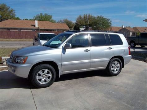 2002 Toyota Highlander Transmission Find Used 2002 Toyota Highlander Base Sport Utility 4 Door