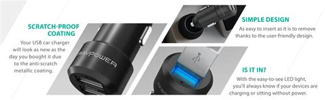 Car Charger Log On Fourgen Lo Sv09 4 Usb 6 6a Fast Ch Limited ravpower 24w 2 port car charger