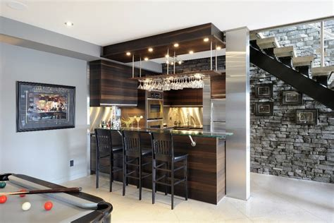 Rustic Basement Bar Pictures Basement Contemporary With