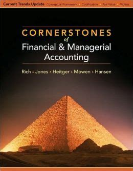Cornerstones Of Managerial Accounting 6th Edition 1 cornerstones of financial and managerial accounting