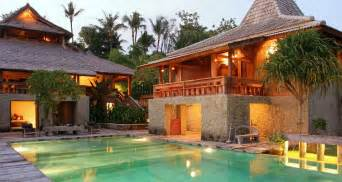 Bali House Plans Tropical Living Bali Wooden House Designs