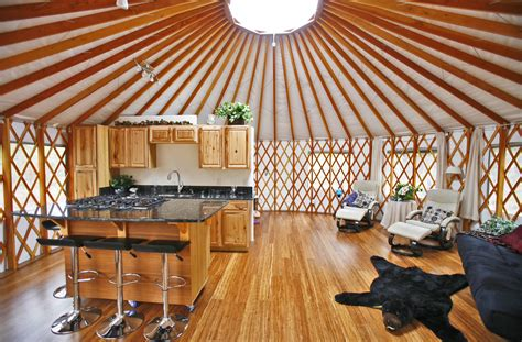 Kitchen Designs For Small Kitchens by Yurt Interiors Pacific Yurts