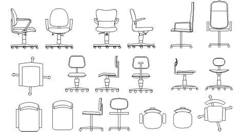 librer 237 as de bloques autocad mesas y sillas de oficina 04 - Bloque Autocad Silla