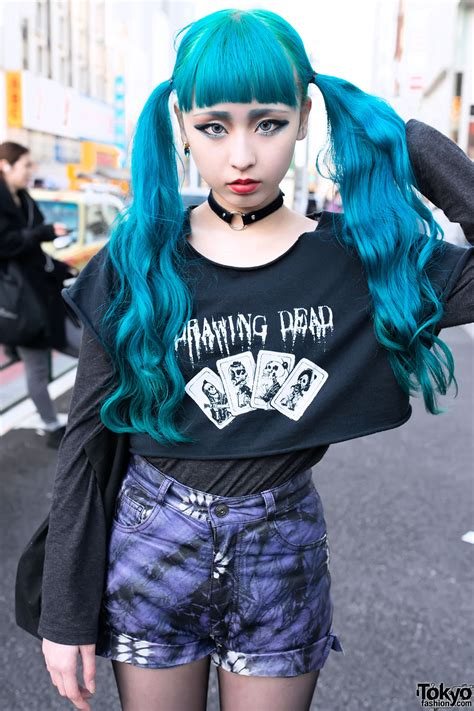hair by tokyo blue twintails hairstyle psycho apparel tokyo bopper in