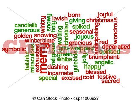 words that describe christmas clip of collage a simple collage of words describing csp11806927 search
