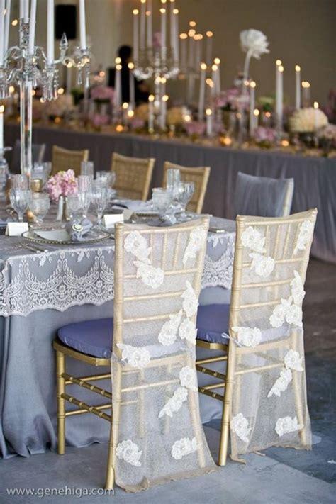 Stuhldekoration Hochzeit by Tablescapes Lace Wedding Chair Decoration 2030184