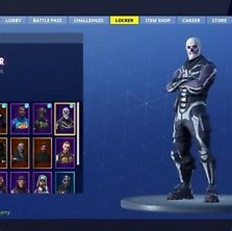 fortnite accessories fortnite accessories skull trooper account for sale 50