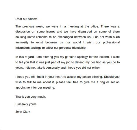 Apology Letter Writer Sle Professional Apology Letter 10 Free Documents In Word Pdf