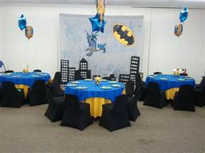 Batman Table And Chair Set Batman Theme Kids Birthday Party Ideas Decoartion