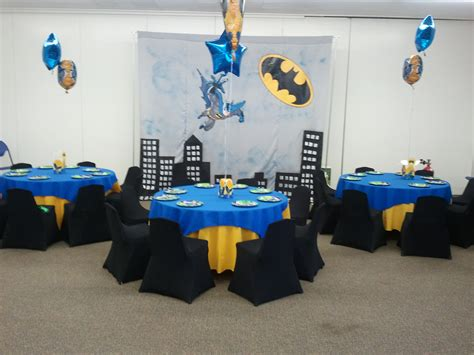 themed birthday party rooms batman theme kids birthday party ideas decoartion