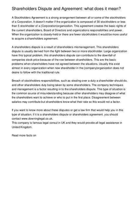 11 Letter Word Meaning Dispute Shareholder Agreement Model Shareholders Agreement
