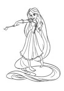 free printable tangled coloring pages kids