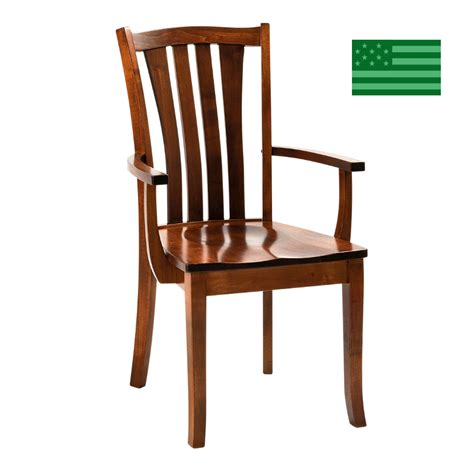 Dining Chairs Made In Usa Made In America Dining Chairs Amish Solid Wood Heirloom Furniture Made In Usa Henderson Arm