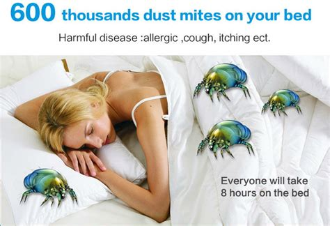 dust mites in bed refurbished hanabishi ha8236 uv bed cleaner kills 99 dust mites bed bugs and