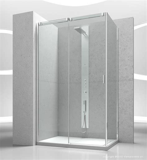 vismara cabine doccia cabina doccia 160x75 vismara trasp cromo con anticalcare