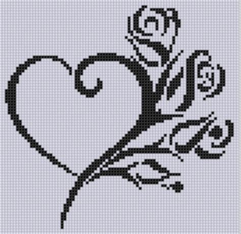 heart pattern for cross stitch heart roses cross stitch pattern by motherbeedesigns craftsy
