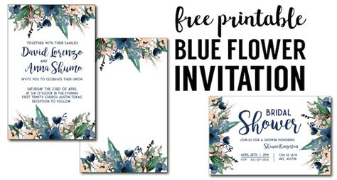 Blue Free Printable Invitation Templates Paper Trail Design Free Photo Invitation Templates