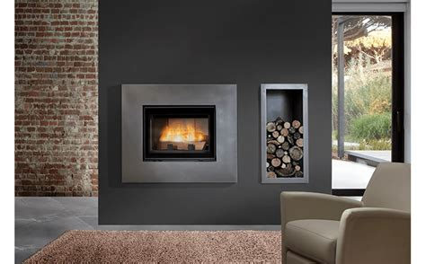 Wood Burning Open Fireplace open door deluxe wood burning fireplaces chazelles