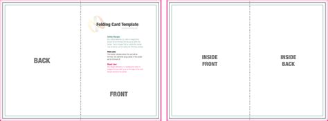 folding card template word 8 best images of 8 5 x 11 brochure template microsoft