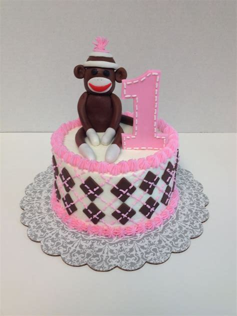 a sock monkey cake sock monkey smash cake my cake creations monkey sock monkeys and cakes