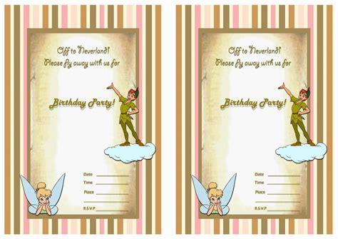 peter pan birthday invitations birthday printable