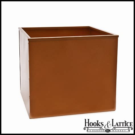 square metal planter galvanized metal square planter liner white bronze or