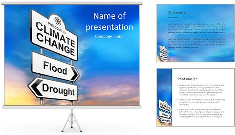 Climate Change Powerpoint Template Backgrounds Id 0000007749 Smiletemplates Com Climate Change Brochure Template