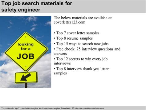 Safety Engineer Cover Letter by Safety Engineer Cover Letter