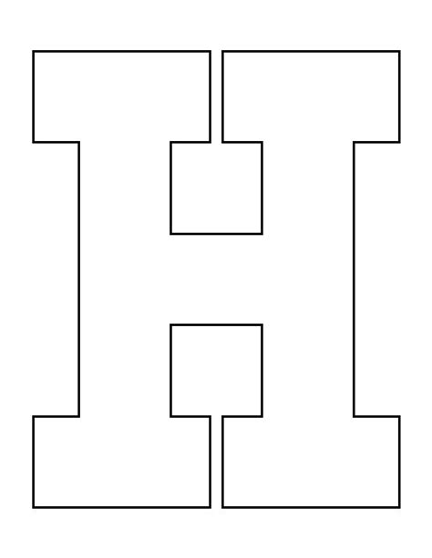 h and p template letter h pattern use the printable outline for crafts