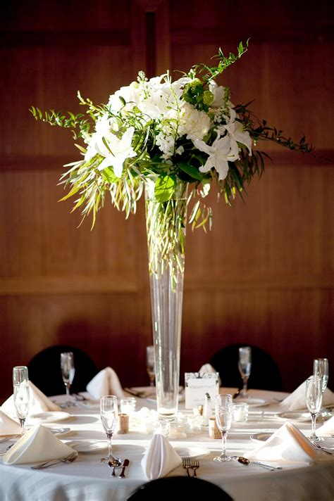 White Lily Vase 30 Dramatic Tall Wedding Centerpieces 19311