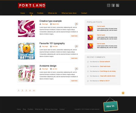 blog page template wordpress