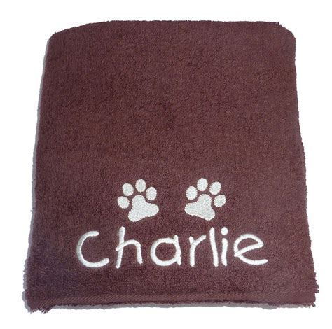 personalised dog towels my posh paws