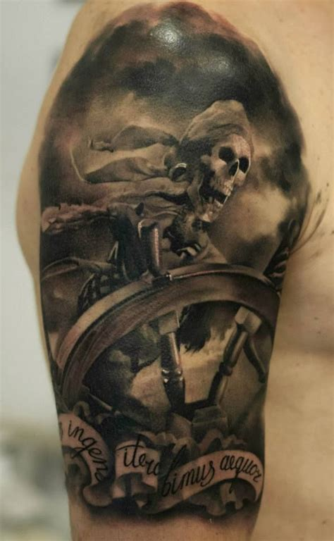 pirates of the caribbean tattoo skeleton pirate neat tattoos