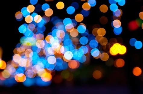 How To Decorate My New Home by Christmas Shiny City Bokeh In Yellow And Blue Colors