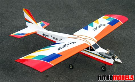 best rc trainer nitromodels rc airplane sports trainer 46 60 65