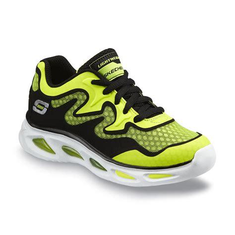 neon athletic shoes skechers boy s dynamo neon green black athletic shoe