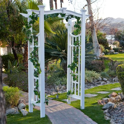 patio trellis 7 75 foot pergola garden arbor patio archway wedding arch