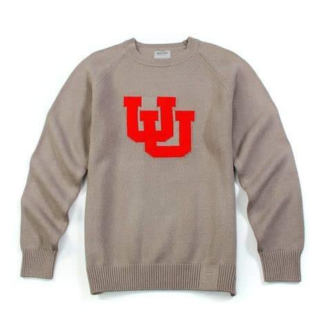 College Letter Sweater Utah Letter Sweater Gray Hillflint Luxury Sweaters Collegiate Apparel