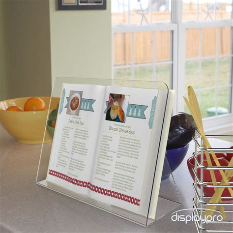 Cookbook Stands For Kitchen by Cook Book Stands Kitchen Recipe Display Cookbook Clear