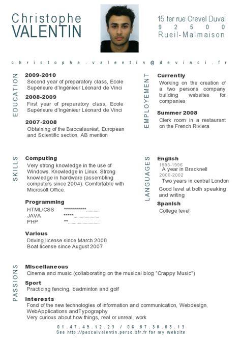 Best Resume Format For Journalist by Resume French Resume Badak