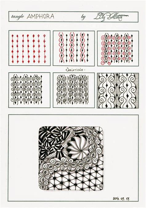 zentangle new pattern lily s tangles my new tangle pattern quot amphora