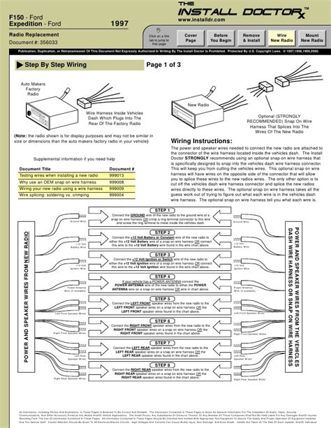1998 ford expedition radio wiring diagram stereo wiring diagram for 1998 ford expedition wiring